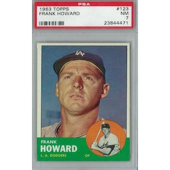 1963 Topps Baseball #123 Frank Howard PSA 7 (NM) *4471 (Reed Buy)