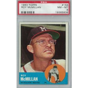 1963 Topps Baseball #156 Roy McMillan PSA 8 (NM-MT) *5836 (Reed Buy)