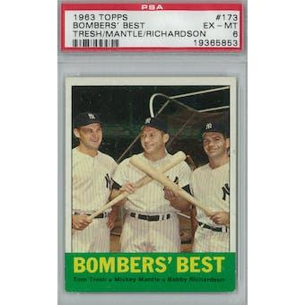 1963 Topps Baseball  #173 Bombers' Best PSA 6 (EX-MT) *5853 (Reed Buy)