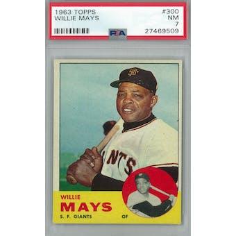 1963 Topps Baseball #300 Willie Mays PSA 7 (NM) *9509 (Reed Buy)