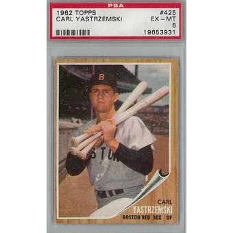 1962 Topps Baseball #425 Carl Yastrzemski PSA 6 (EX-MT) *3931 (Reed Buy)
