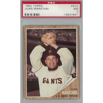 1962 Topps Baseball #505 Juan Marichal PSA 7 (NM) *7691 (Reed Buy)