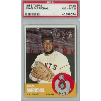 1963 Topps Baseball #440 Juan Marichal PSA 8 (NM-MT) *9074 (Reed Buy)