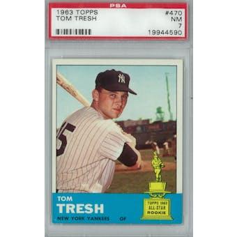 1963 Topps Baseball #470 Tom Tresh PSA 7 (NM) *4590 (Reed Buy)