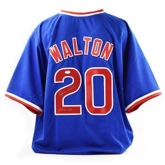 Jerome Walton Autographed Chicago Cubs Custom Baseball Jersey w/ Inscription (JSA COA)