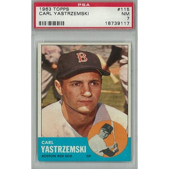 1963 Topps Baseball #115 Carl Yastrzemski PSA 7(NM) *9117 (Reed Buy)