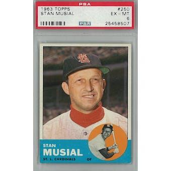 1963 Topps Baseball #250 Stan Musial PSA 6 (EX-MT) *8507 (Reed Buy)