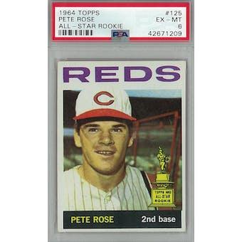 1964 Topps Baseball #125 Pete Rose PSA 6 (EX-MT) *1209 (Reed Buy)