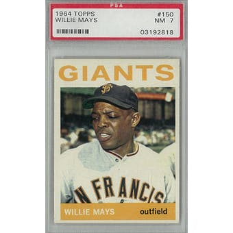 1964 Topps Baseball #150 Willie Mays PSA 7 (NM) *2818 (Reed Buy)