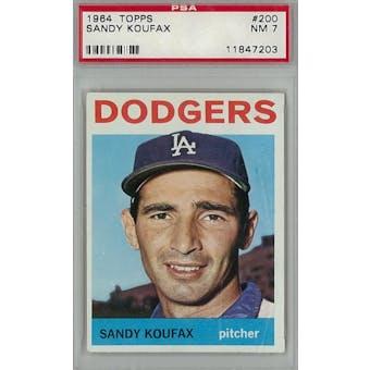 1964 Topps Baseball #200 Sandy Koufax PSA 7 (NM) *7203 (Reed Buy)