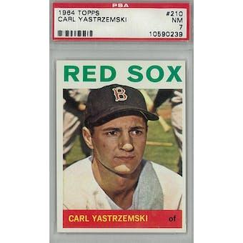 1964 Topps Baseball #210 Carl Yastrzemski PSA 7 (NM) *0239 (Reed Buy)