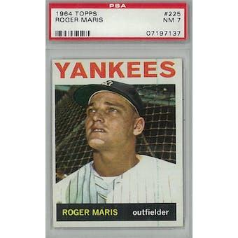 1964 Topps Baseball #225 Roger Maris PSA 7 (NM) *7137 (Reed Buy)