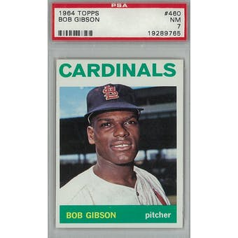 1964 Topps Baseball #460 Bob Gibson PSA 7 (NM) *9765 (Reed Buy)