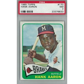 1965 Topps Baseball #170 Hank Aaron PSA 7 (NM) *6833 (Reed Buy)