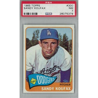 1965 Topps Baseball #300 Sandy Koufax PSA 7 (NM) *5379 (Reed Buy)