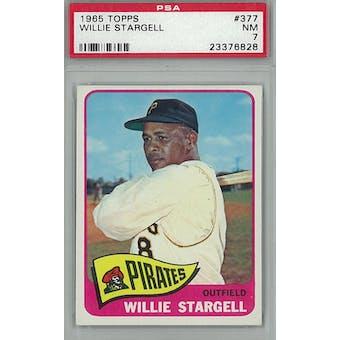 1965 Topps Baseball #377 Willie Stargell PSA 7 (NM) *6828 (Reed Buy)
