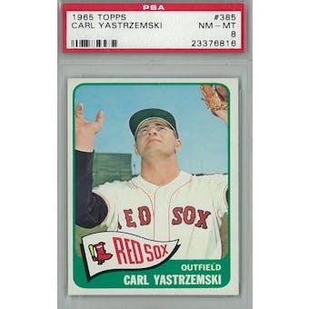 1965 Topps Baseball #385 Carl Yastrzemski PSA 8 (NM-MT) *6816 (Reed Buy)
