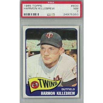 1965 Topps Baseball #400 Harmon Killebrew PSA 7 (NM) *5350 (Reed Buy)