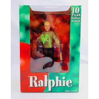 "A Christmas Story NECA Reel Toys 10"" Talking Ralphie Action Figure Autographed by Peter Billingsley"