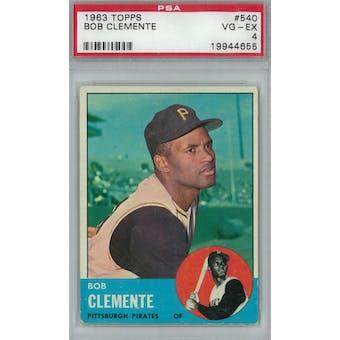 1963 Topps Baseball #540 Roberto Clemente PSA 4 (VG-EX) *4655 (Reed Buy)