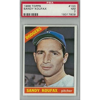 1966 Topps Baseball #100 Sandy Koufax PSA 7 (NM) *7809 (Reed Buy)