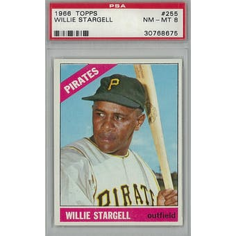 1966 Topps Baseball #255 Willie Stargell PSA 8 (NM-MT) *8675 (Reed Buy)