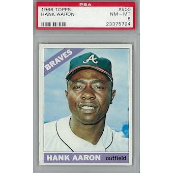 1966 Topps Baseball #500 Hank Aaron PSA 8 (NM-MT) *5724 (Reed Buy)