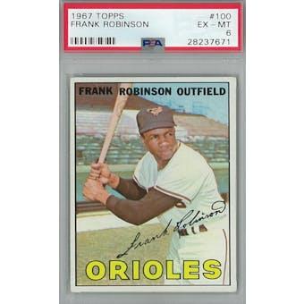 1967 Topps Baseball #100 Frank Robinson PSA 6 (EX-MT) *7671 (Reed Buy)
