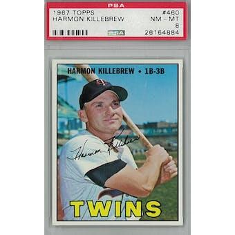 1967 Topps Baseball #460 Harmon Killebrew PSA 8 (NM-MT) *4884 (Reed Buy)