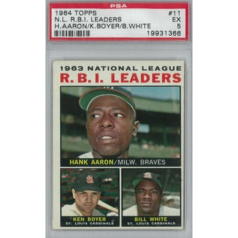1964 Topps Baseball #11 NL RBI Leaders PSA 5 (EX) *1366 (Reed Buy)
