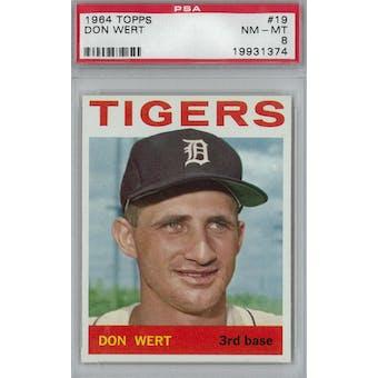 1964 Topps Baseball #19 Don Wert PSA 8 (NM-MT) *1374 (Reed Buy)