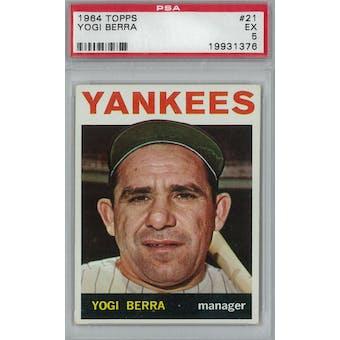 1964 Topps Baseball #21 Yogi Berra PSA 5 (EX) *1376 (Reed Buy)