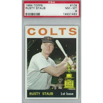 1964 Topps Baseball  #109 Rusty Staub PSA 8 (NM-MT) *1463 (Reed Buy)