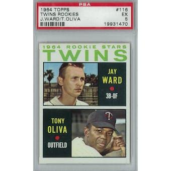 1964 Topps Baseball #116 Tony Oliva PSA 5 (EX) *1470 (Reed Buy)