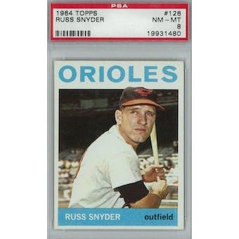 1964 Topps Baseball  #126 Russ Snyder PSA 8 (NM-MT) *1480 (Reed Buy)