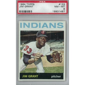 1964 Topps Baseball #133 Jim Grant PSA 8 (NM-MT) *1487 (Reed Buy)