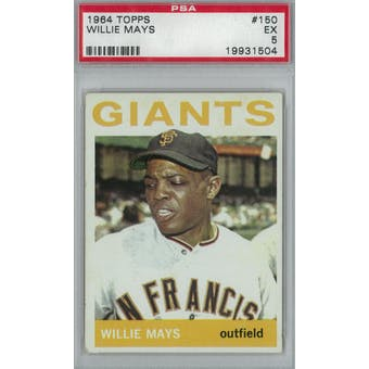 1964 Topps Baseball #150 Willie Mays PSA 5 (EX) *1504 (Reed Buy)