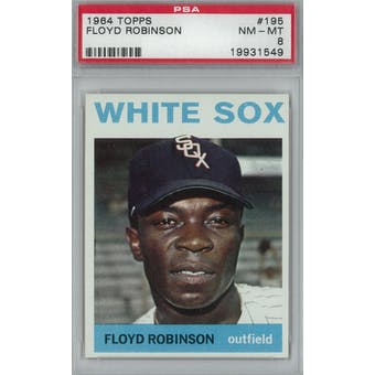 1964 Topps Baseball #195 Floyd Robinson PSA 8 (NM-MT) *1549 (Reed Buy)