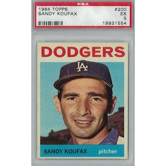 1964 Topps Baseball  #200 Sandy Koufax PSA 5 (EX) *1554 (Reed Buy)