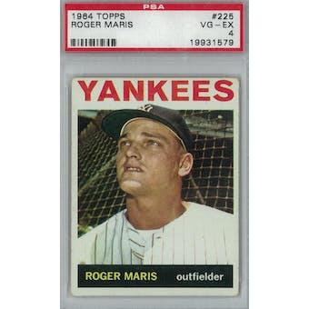 1964 Topps Baseball #225 Roger Maris PSA 4 (VG-EX) *1579 (Reed Buy)