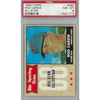 1968 Topps Baseball #363 Rod Carew AS PSA 8 (NM-MT) *1713 (Reed Buy)