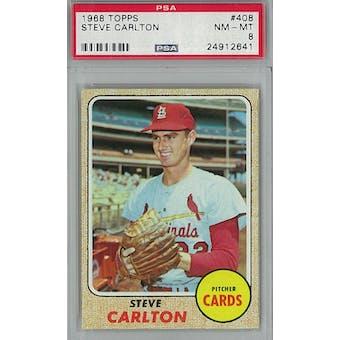 1968 Topps Baseball #408 Steve Carlton PSA 8 (NM-MT) *2641 (Reed Buy)