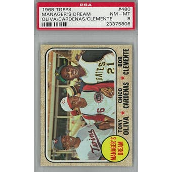 1968 Topps Baseball #480 Manager's Dream PSA 8 (NM-MT) *5806 (Reed Buy)
