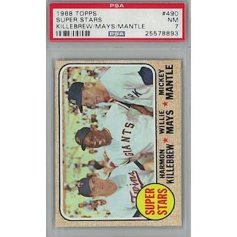 1968 Topps Baseball #490 Super Stars PSA 7 (NM) *8893 (Reed Buy)