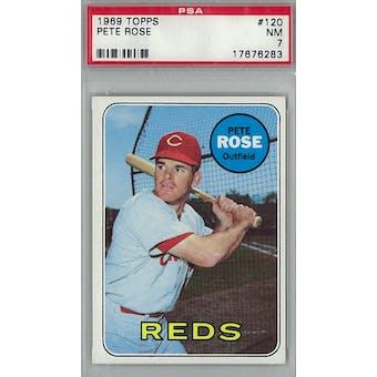 1969 Topps Baseball #120 Pete Rose PSA 7 (NM) *6283 (Reed Buy)