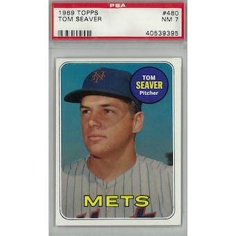 1969 Topps Baseball #480 Tom Seaver PSA 7 (NM) *9395 (Reed Buy)