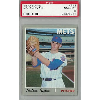 1970 Topps Baseball #712 Nolan Ryan PSA 8 (NM-MT) *5871 (Reed Buy)