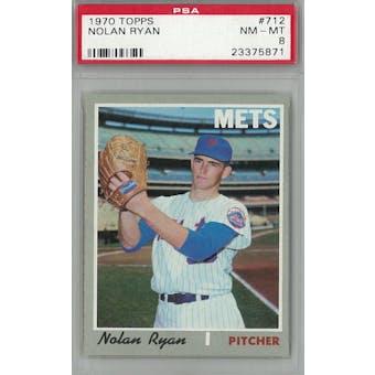 1970 Topps Baseball #712 Nolan Ryan PSA 8 (NM-MT) *5871 (Reed Buy)