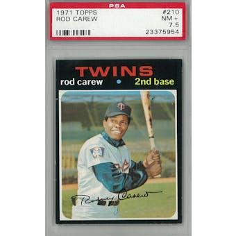 1971 Topps Baseball #210 Rod Carew PSA 7.5 (NM+) *5954 (Reed Buy)