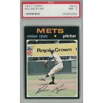 1971 Topps Baseball #513 Nolan Ryan PSA 7 (NM) *2055 (Reed Buy)